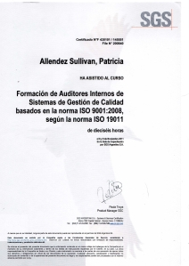 Certificado auditor interno