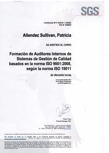 Certificado auditor interno